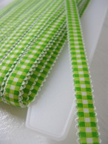VICHY♥GREEN♥elastic RIBBON