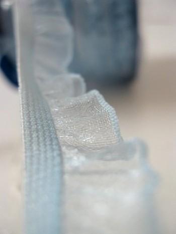 ♥RUFFLes♥sky BLUE elastic RIBBON