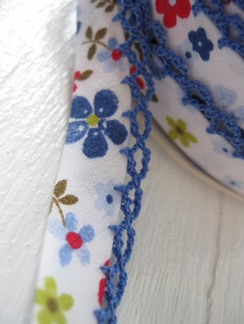 ♥VICHY♥little FLOWERS non-elastic RIBBON BINDING