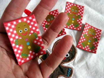 ♥GINGERbreadMAN♥X-MAS woven label