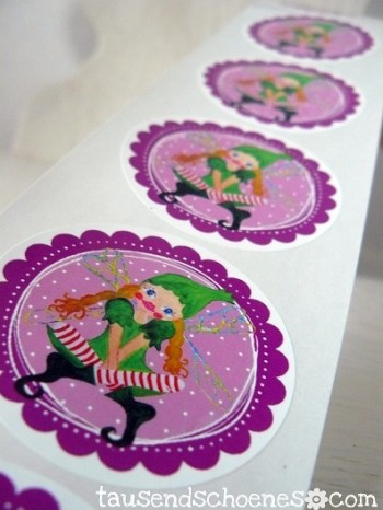 ♥TINKA BELLA♥sticker 20stk MAGICal FOREST fairy