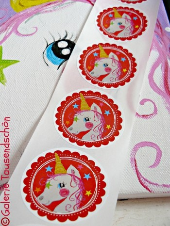 ♥UNICORN♥sweet little FAIRY magic STICKER