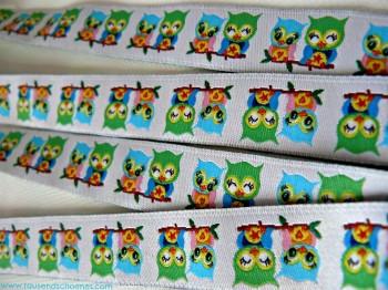 ♥EULENschoen♥ sweet OWLs RIBBON 17mm