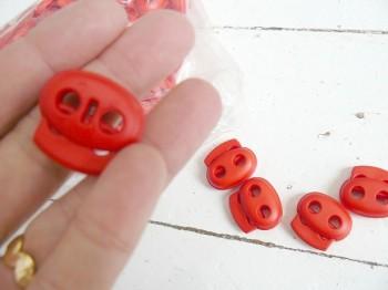 ♥KORDELSTOPPER♥ quer ROT 2,5cm