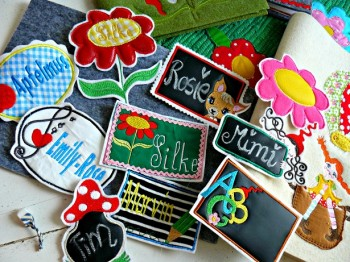 ♥BACK to SCHOOL♥ Stickmuster ETIKETTEN Label 13x18cm