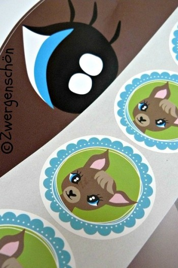 ♥TRUSTY♥True Blue LOVE-DEER sticker 5cm