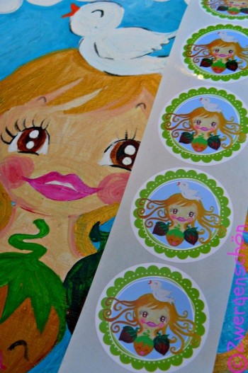 ♥HAZEL&Friends♥sticker 5cm ROUND 20 pieces CINDERELL