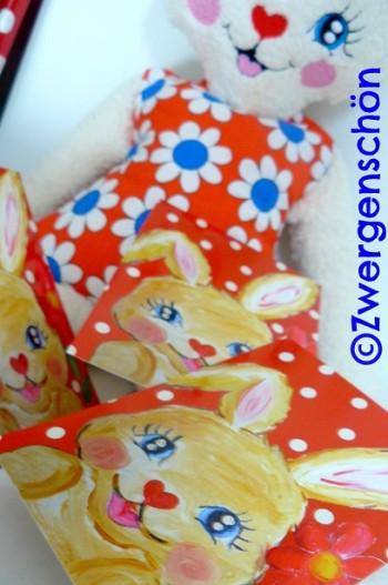 ♥SWEET BUNNY♥Postcard-SET 3pcs