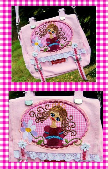 ♥PRINCESS BEAUTYSEVEN♥ Embroidery-File-Set for the hoop 13x18cm