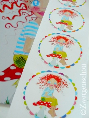 ♥HULLA TRoeLLA♥Icland FAIRY GNOME sticker SET of 20