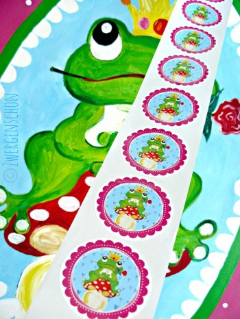 ♥HAPPY FROGPRINCE ARTHUR♥sticker 5cm 20pieces