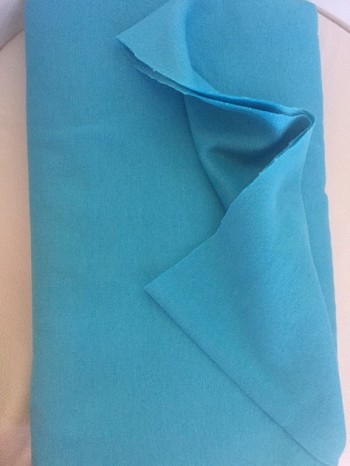 ♥CUFF♥ 0.25m powder turquise blue PRICE per 0.25m