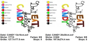 ♥DON`t EAT THE F*CKING CANDY♥ 1€-SPARbie EMBROIDERY until18