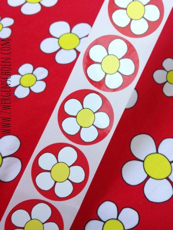 ♥MISS DAISY♥ DOODLE Sticker 20pcs RED RED RED