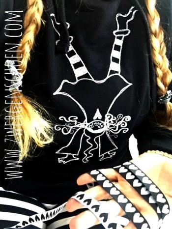 ♥HERZchenSCHÖN♥ Webband BLACK&WHITE 2in1