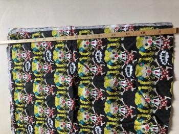 ♥YOYO on BLACK♥ 65cm WEBWARE Yogaschön BAUMWOLLE