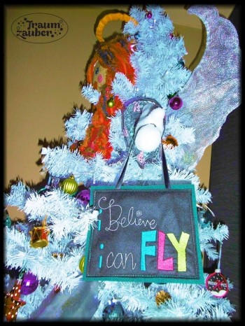 ♥I BELIEVE I CAN FLY♥ Embroidery-FILE 1€-SPARbie 13x18cm
