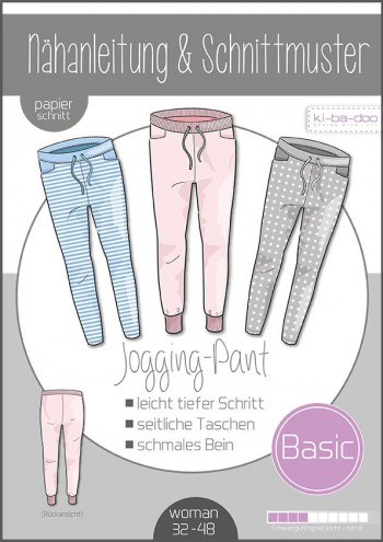 ♥Basic Jogging Pants Damen♥ PAPIER-SCHNITTMUSTER Din A0 WOMAN 32-48