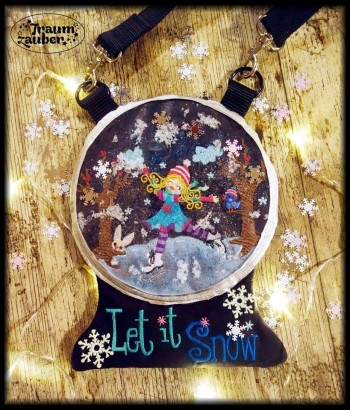 ♥SNOWBALL♥ Embroidery FILE Bag ITH 20x26cm