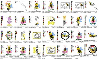 ♥BieNCHENSCHöN♥ Stickdatei BIENEN Queen of BEES