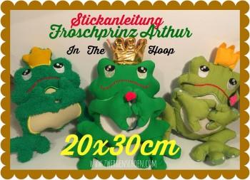 ♥FROSCHprinz ARTHUR♥ Stickmuster ITH 20x30cm IN THE HOOP
