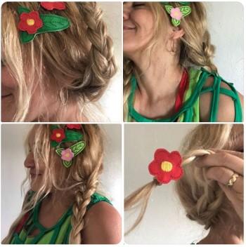 ♥DAISY in the HAIR♥ Stickdatei ITH 10x10cm Haarschmuck BLUMEN
