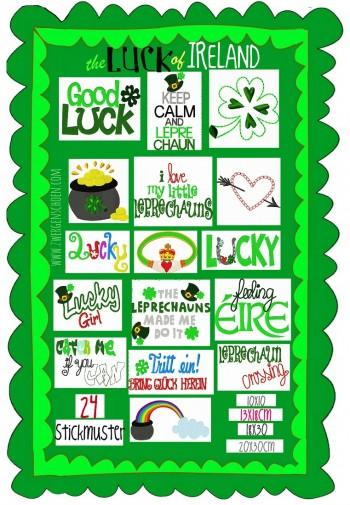♥LUCK of IRELAND♥ Stickmuster IRLAND Schätze