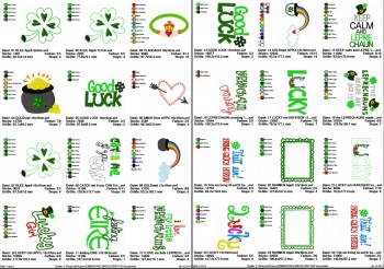 ♥LUCK of IRELAND♥ Embroidery FILE-SET