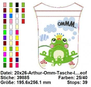 ♥FROSCHprinz ARTHUR♥ YOGA Frosch RV-TASCHE InTheHOOP 20x26cm