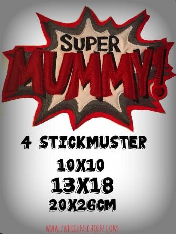 ♥SUPER MUMMY♥ 1€-SPARbie STICKMUSTER 10x10 13x18 20x26cm