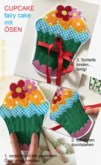 ♥FAIRY CAKES♥ Stickmuster MUFFINs Cupcakes SWEET KITCHEN 10x10 13x18cm