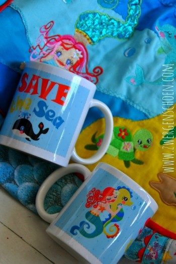 ♥ SAVE THE SEA ♥ TASSE Waterlilly&Friends 0.3L