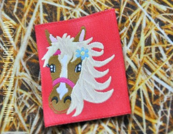 ♥PONY♥ Love HORSE Label 5x5cm PRICE per ONE