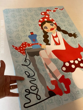 ♥MISSI in LOVE with SEWING♥ Poster DIN A0