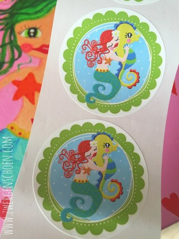 ♥LILLY in LOVE with SEEHORSE♥ Mermaid STICKER 20pcs 5cm