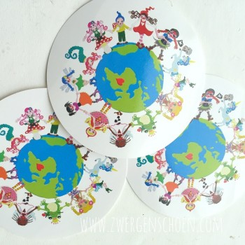 ♥ONE♥ Aufkleber SAVE MY PLANET 9cm WEISS