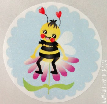 ♥SAVE THE BEES♥ STICKER Bee HEAVEN`s BLUE 20pcs 4,5cm