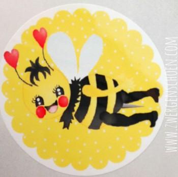 ♥BieNCHENSCHön♥ sunny BEE Aufkleber 20Stk Biene