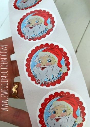 ♥SANTA BABY♥ XMAS Sticker 20pcs 5cm
