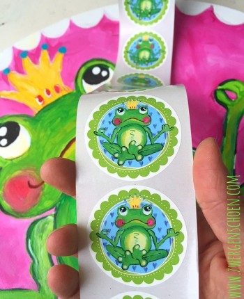 ♥YOGAFROG♥ Sticker FROGPRINCE ARTHUR Ommm 20pieces 5cm