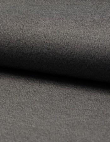 ♥CHAMBRAI♥ 0.5m CHAMBRAY TENCEL Baumwolle GRAU/SCHWARZ