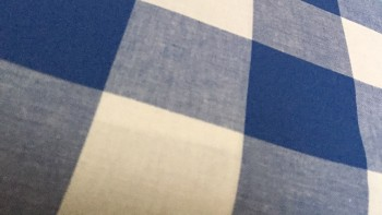 ♥VICHY XXL♥ Cotton ROYAL BLUE Dutch PRICE PER 0.5 METER