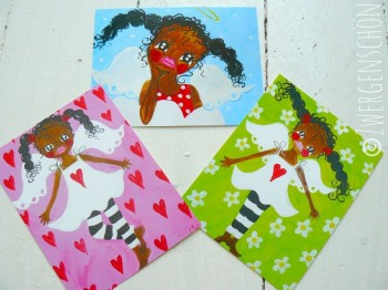 ♥HOLLY HIMMELSCHoeN♥ Postcard-SET 3pcs GUARDIAN ANGEL