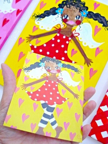 ♥HOLLY HIMMELSCHoeN♥ GUARDIAN ANGEL sunny Postcard