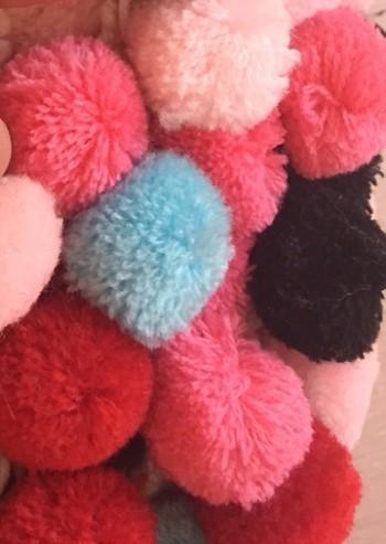♥XXL POM PON♥ Borte POMPONBAND Boho BOMMELBORTE schwarz pink rosa rot rose türkis