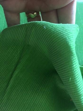 ♥FEINCORD♥ 0,5m CORD froschPRINZ grün BAUMWOLLE