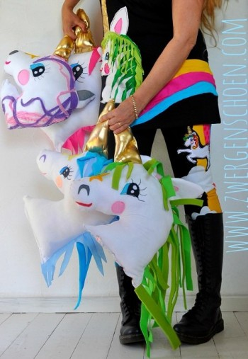 ♥UNICORN XXL♥ Einhorn KISSEN eBOOK Applikation