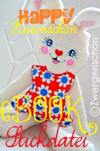 ♥HAPPY♥eBOOK embroidery-file SWEET BUNNY GIRL german