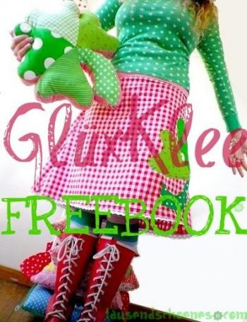 ♥GLÜXklee♥ NÄHANLEITUNG Kleekissen APPLIKATION 1€-SPARbie