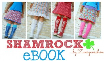 ♥ShamROCK♥ eBOOK german PATTERN Happy SKIRT